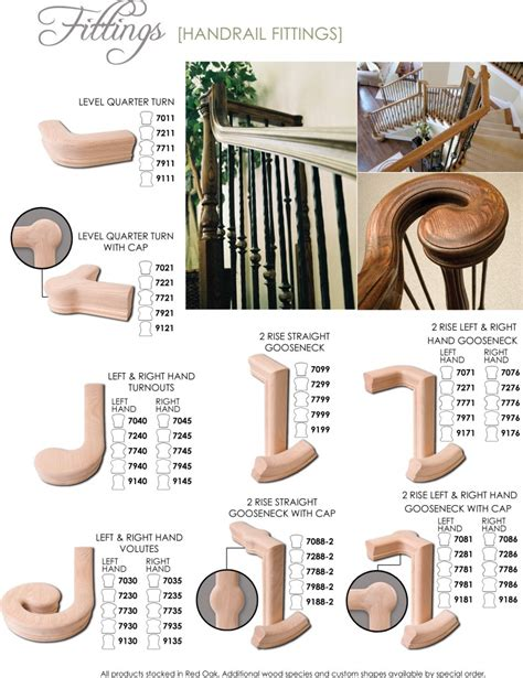 wooden banister parts wood handrail and wood fittings for stairs railings