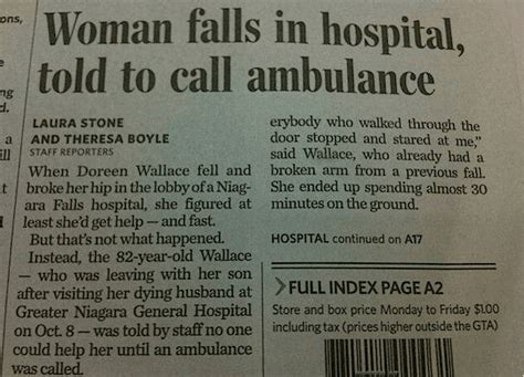 10 Silly Newspaper Headlines by Newspaper Headlines Falls In Hospital Told
