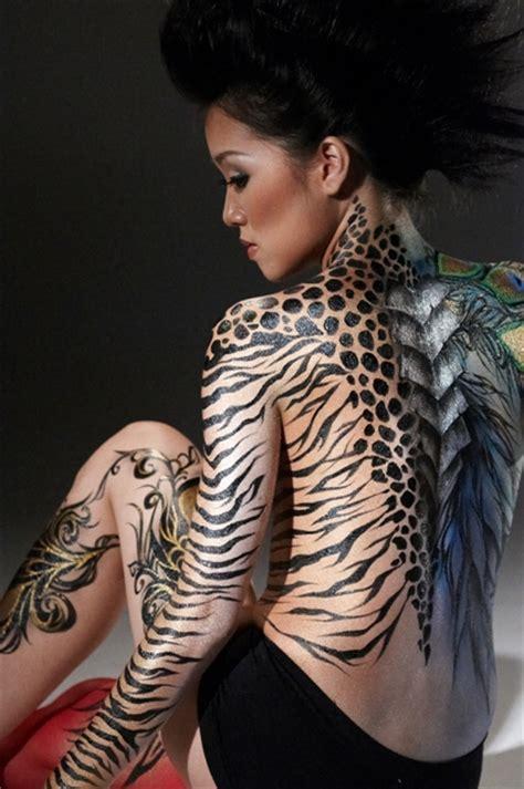 full body animal tattoo fashion body painting