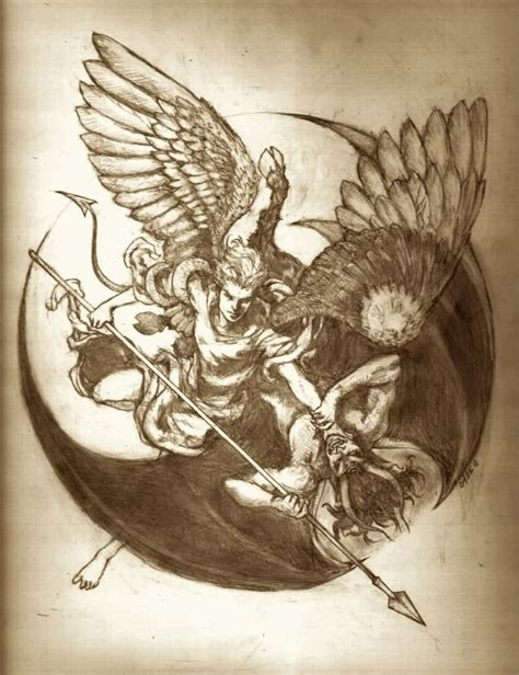 angel and demon tattoo drawings tattoo design angel vs demon recherche google creative
