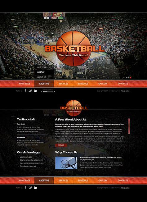 Basketball Html5 Template Best Website Templates Basketball Team Website Template