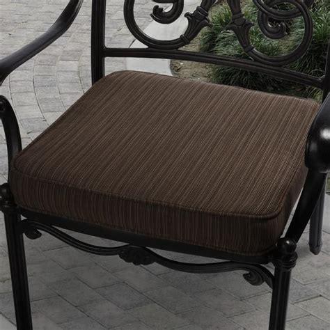 Patio Furniture Cushions Sunbrella 19 In Outdoor Textured Brown Cushion Made W Sunbrella
