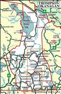 map of the thompson okanagan vancouver island news