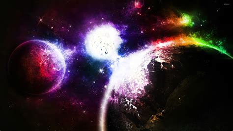 colorful universe wallpaper colorful planets wallpaper space wallpapers 21999