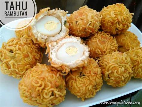 resep membuat bola tahu rambutan isi telur enak haniya