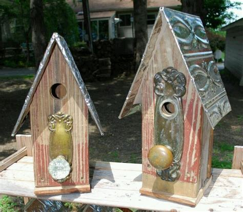 birdhouse made out of recycled materials bird houses