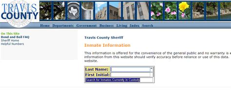 Travis County Records Search Free Inmate Arrest Record Check Search
