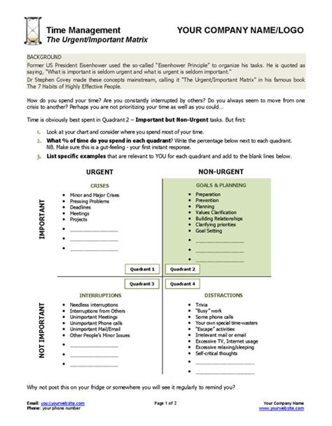 important urgent matrix template urgent important matrix template and worksheet coaching