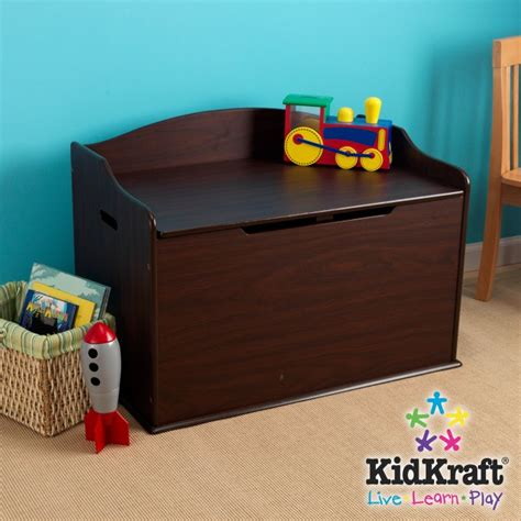 wood toy box bench kidkraft austin wood toy box chest bench espresso ebay