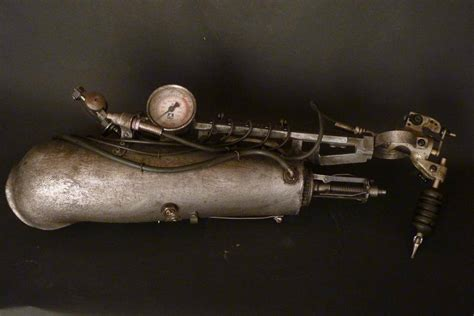 tattoo gun not working metal artist crafts an amazing steunk styled prosthetic