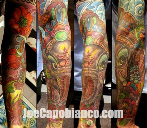 tattoo arm ganesha arm ganesh tattoo by joe capobianco