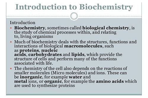 biochemistry deals with what