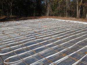 epoxy coatings over radiant floor heating