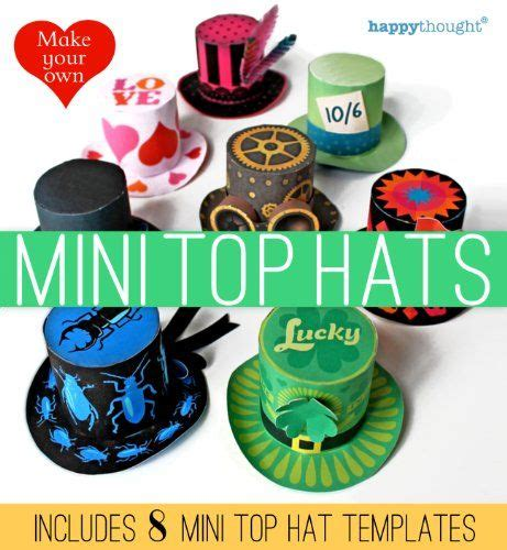 How To Make A Small Paper Hat - make your own mini top hats happythought printable paper