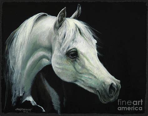 Arabian Horse Head Painting By Don Langeneckert
