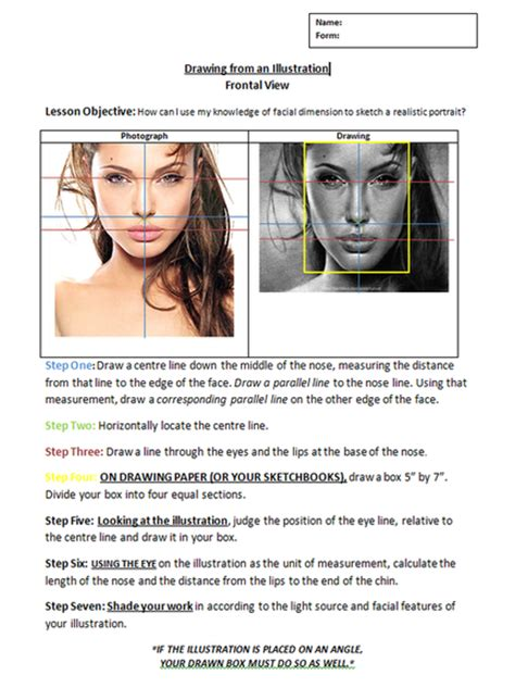 Photography Worksheets by Dimension And Realism For