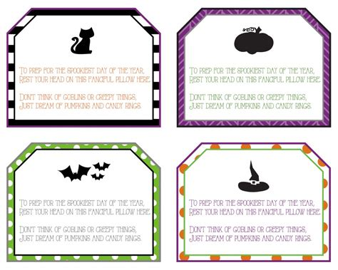 printable halloween tags halloween pillowcase and gift tag idea
