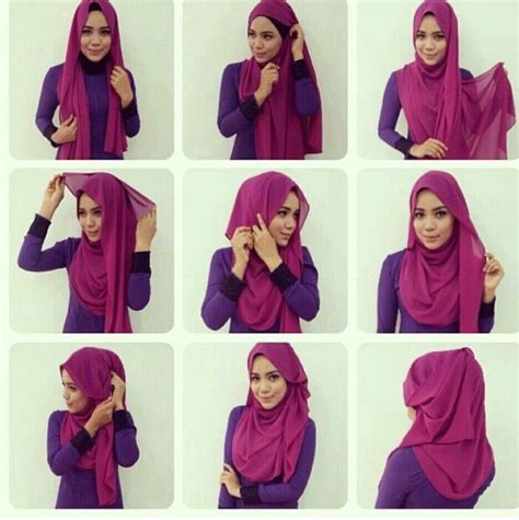 hijab tutorial waffaa shawl 50 best images about tutorial hijab on pinterest square