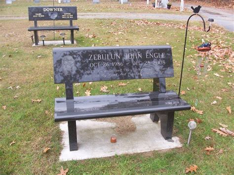 park bench memorial granite benches harrisville memorials