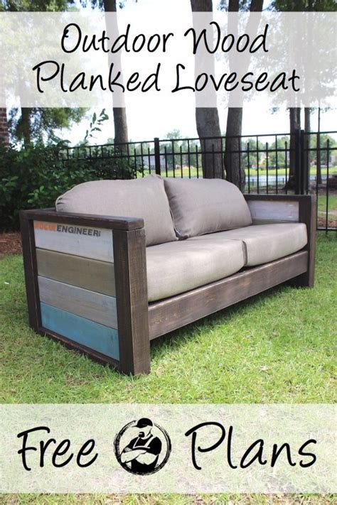 outdoor loveseat plans 35 super cool diy sofas and couches diy sofa wood