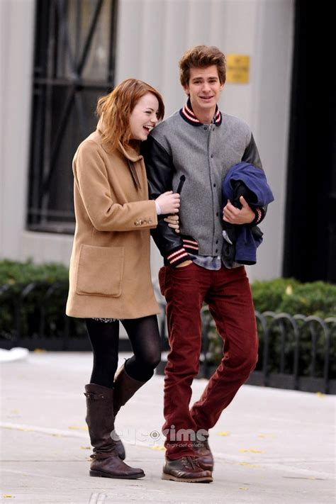 emma stone andrew garfield a e in ny andrew garfield and emma stone photo 28296539