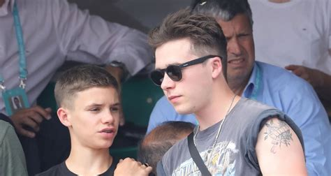 romeo beckham nadal brooklyn romeo beckham enjoy a day at the french open