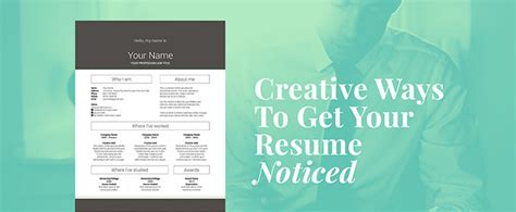 How To Get Your Resume Noticed by 10 Creative Ways To Get Your Resume Noticed Creative