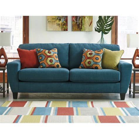 sofa sleepers queen size ashley sagen fabric queen size sleeper sofa in teal
