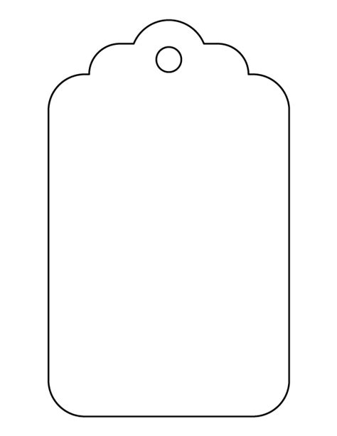 template tag large gift tag pattern use the printable outline for