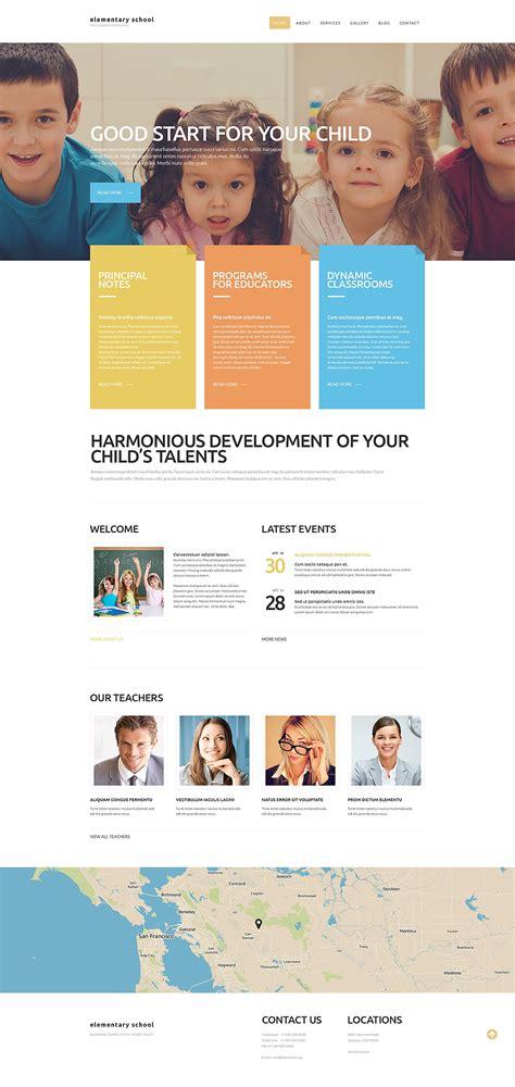 elementary school website elementary school website template 52747