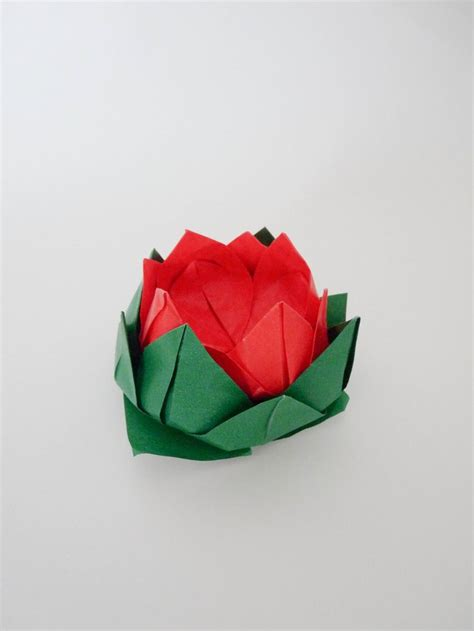 How To Make Origami Lotus - how to make an origami lotus flower origami