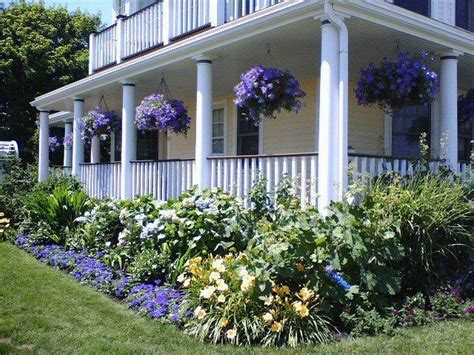 farmhouse landscaping front yard gorgeous photos yards