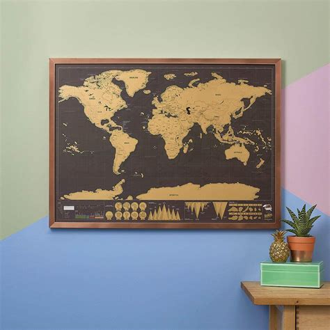 Scratch World Wall Map scratch map 174 original world map poster