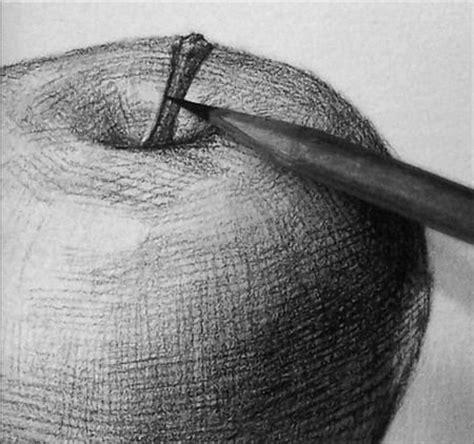 Pencil Drawing Apple