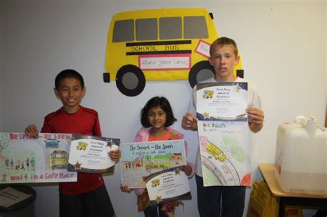 contest 2014 winners safety poster contest winners 2014 csd transportation