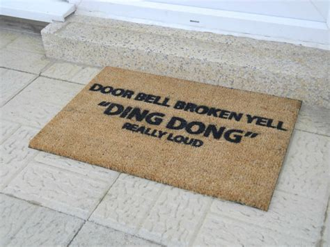 fun welcome mat doorbell broken funny doormat 60x40cm novelty gift