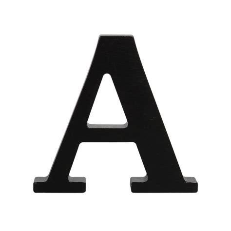 Black Letter wooden letter a black