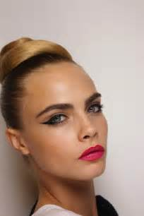Wedding hair makeup trends from fashion week vintage inspired updo cat