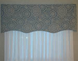 Blue And Gray Valance Popular Items For Scallop Valance On Etsy