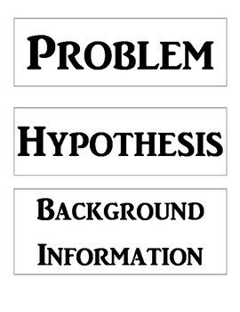 science fair labels templates science fair project labels and title template by