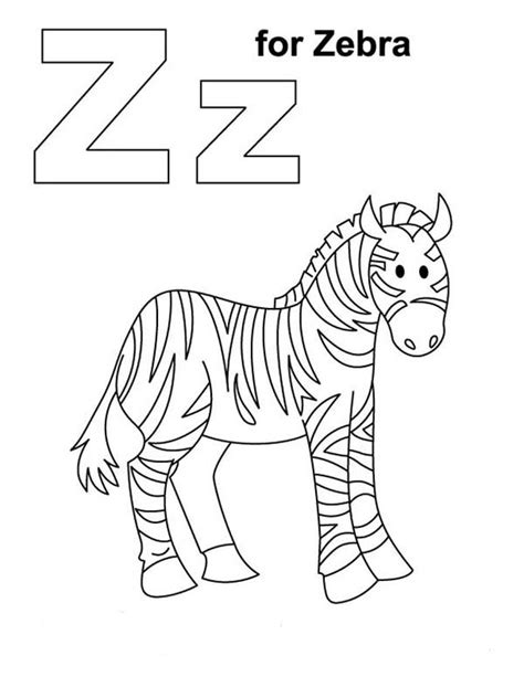 zebra z coloring page zebra 116 animals printable coloring pages