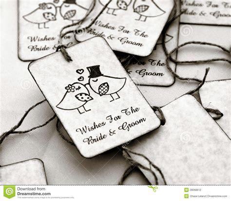 Wedding gift tags stock photo. Image of white, weddings