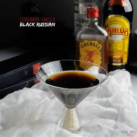 black russian cinnamon vanilla black russian cocktail sugar spice and
