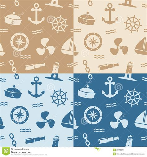 seamless nautical pattern nautical seamless patterns stock vector image of drawing