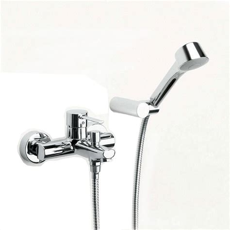 wall mounted bath shower mixer tap roca targa wall mounted bath shower mixer tap with kit 5a0160c00