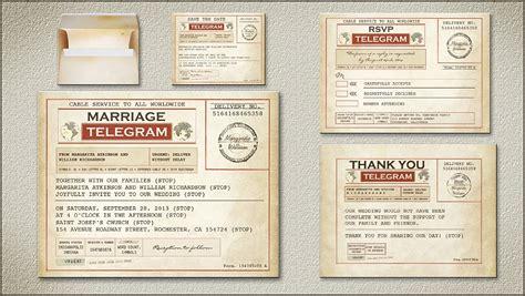 wedding telegram template read more vintage telegram wedding invitation wedding