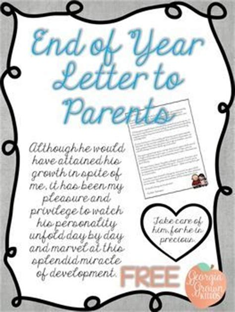 Award Letter To Parents 25 Best Ideas About Letter To Students On Letter For Teachers Day End Of A Letter