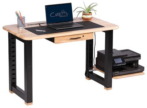 desk with printer space large shelf for loft desk ash caretta workspace