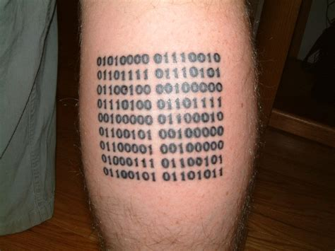 binary code tattoo binary painting