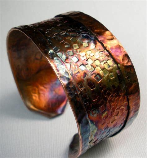 Handmade Copper Cuffs - copper cuff bracelet handmade rustic fold formed and